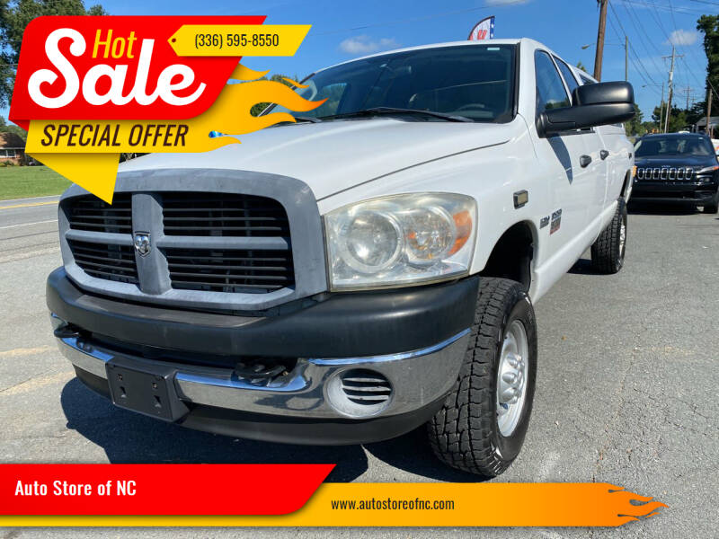 2007 Dodge Ram Pickup 2500 for sale at Auto Store of NC in Walkertown NC