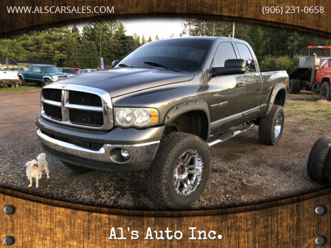 2004 Dodge Ram Pickup 2500 for sale at Al's Auto Inc. in Bruce Crossing MI