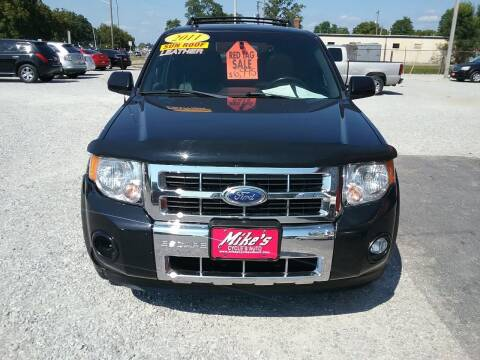2011 Ford Escape for sale at MIKE'S CYCLE & AUTO in Connersville IN