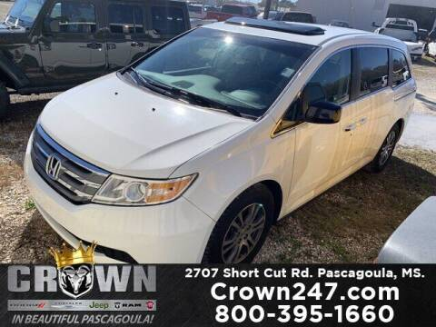 2012 Honda Odyssey for sale at CROWN  DODGE CHRYSLER JEEP RAM FIAT in Pascagoula MS