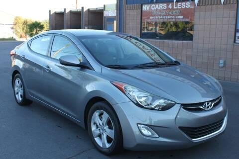 2012 Hyundai Elantra for sale at NV Cars 4 Less, Inc. in Las Vegas NV