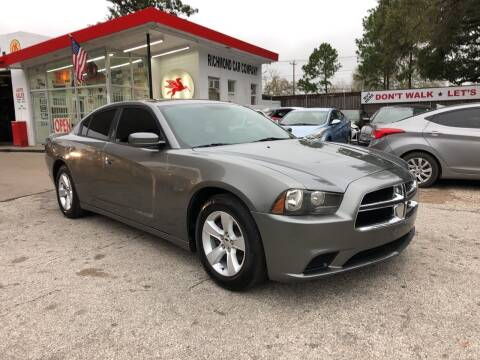 2012 Dodge Charger for sale at Richmond Car Co in Richmond TX