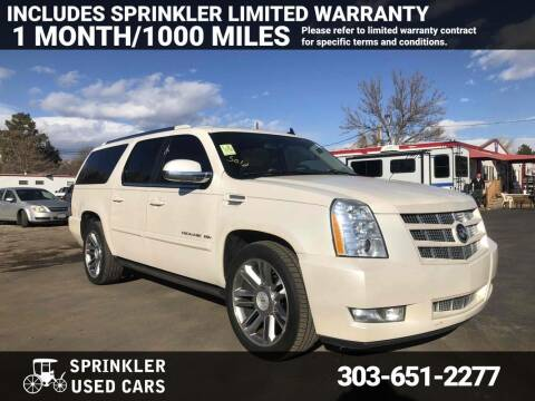 2012 Cadillac Escalade ESV for sale at Sprinkler Used Cars in Longmont CO