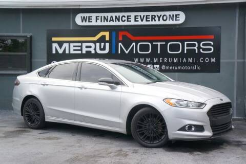 2014 Ford Fusion for sale at Meru Motors in Hollywood FL