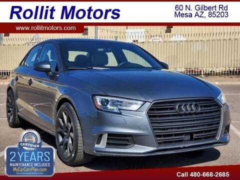 2018 Audi A3 for sale at Rollit Motors in Mesa AZ