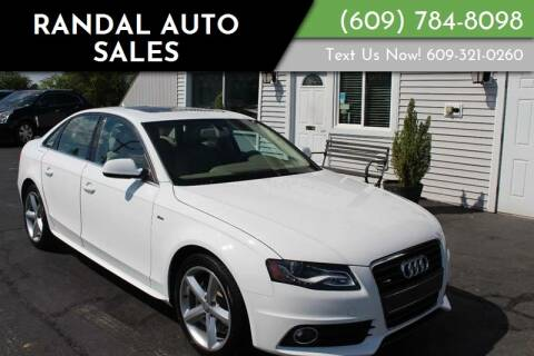 2012 Audi A4 for sale at Randal Auto Sales in Eastampton NJ