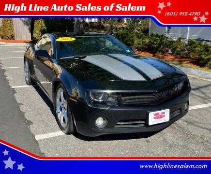 2013 Chevrolet Camaro for sale at High Line Auto Sales of Salem in Salem NH