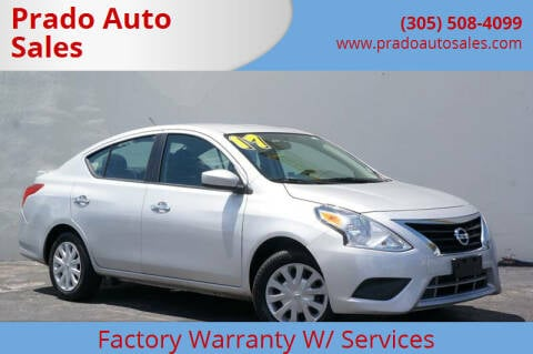 2017 Nissan Versa for sale at Prado Auto Sales in Miami FL