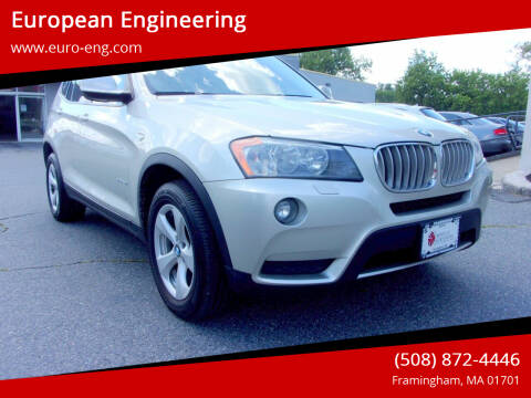 2011 BMW X3 for sale at European Engineering in Framingham MA