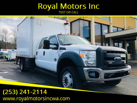 2015 Ford F-550 Super Duty for sale at Royal Motors Inc in Kent WA