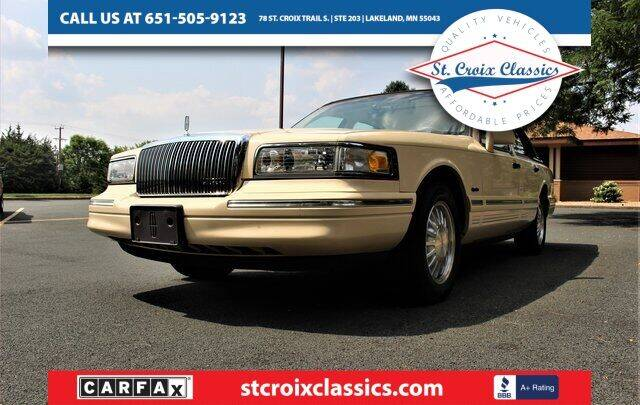 1997 Lincoln Town Car for sale at St. Croix Classics in Lakeland MN