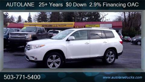 2012 Toyota Highlander for sale at Auto Lane in Portland OR