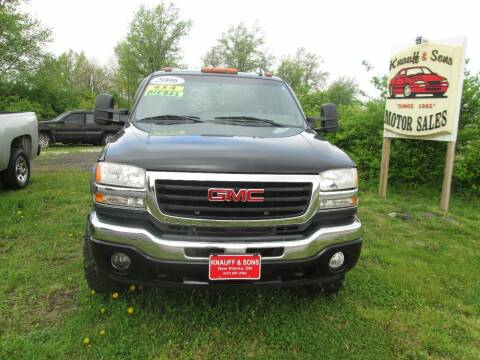 2006 GMC Sierra 2500HD for sale at Knauff & Sons Motor Sales in New Vienna OH