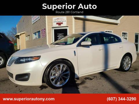 2012 Lincoln MKS for sale at Superior Auto in Cortland NY