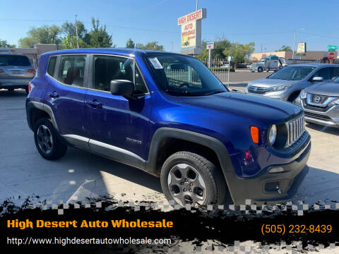 2016 Jeep Renegade for sale at High Desert Auto Wholesale in Albuquerque NM