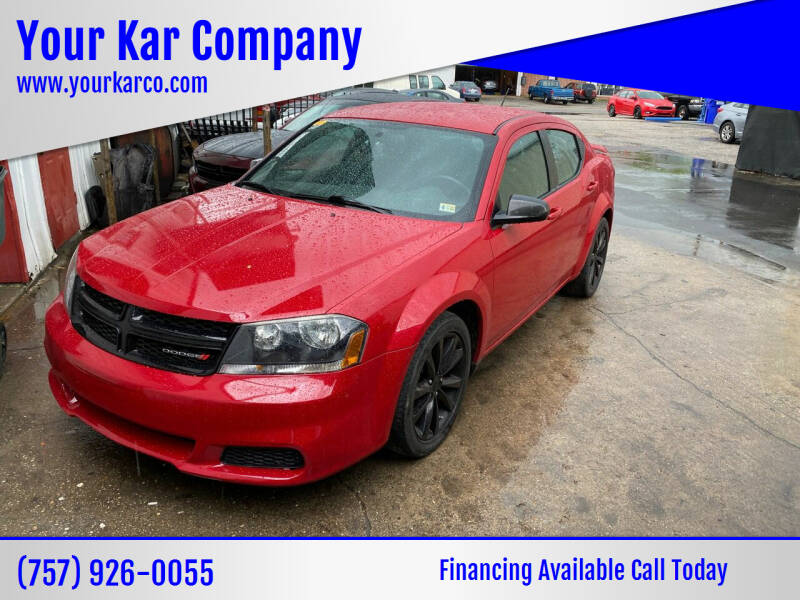 2014 Dodge Avenger for sale at Your Kar Company in Norfolk VA