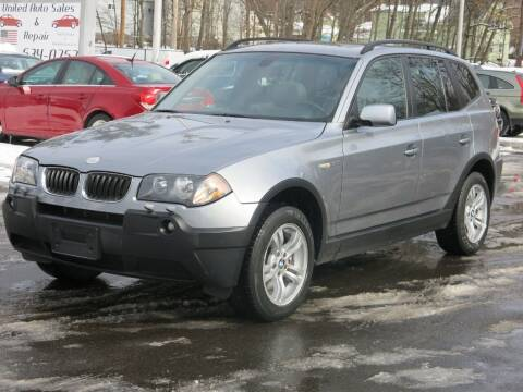 2005 BMW X3 for sale at United Auto Service in Leominster MA