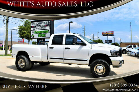 2006 Dodge Ram Pickup 3500 for sale at WHITT'S AUTO SALES, LLC in Houston TX