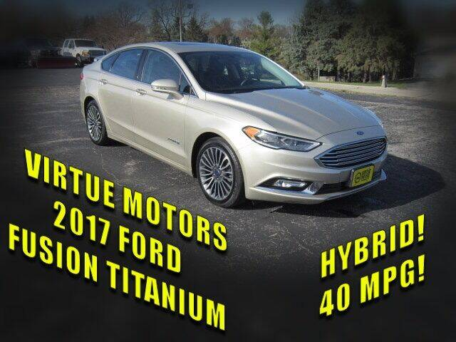 2017 Ford Fusion Hybrid for sale at Virtue Motors in Darlington WI