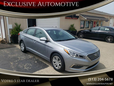 2015 Hyundai Sonata for sale at Exclusive Automotive in West Chester OH