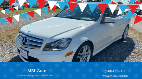 2012 Mercedes-Benz C-Class for sale at MBL Auto in Fredericksburg VA