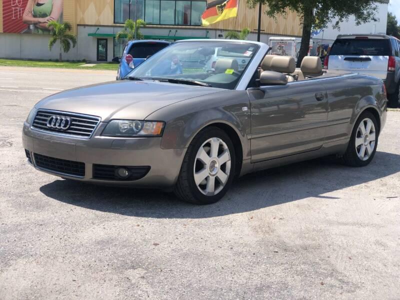 2005 Audi A4 for sale at Pro Cars Of Sarasota Inc in Sarasota FL