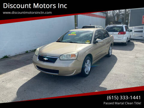 2006 Chevrolet Malibu for sale at Discount Motors Inc in Nashville TN