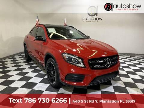 2018 Mercedes-Benz GLA for sale at AUTOSHOW SALES & SERVICE in Plantation FL