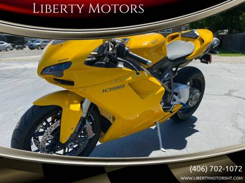 2008 Ducati 1098 for sale at Liberty Motors in Billings MT