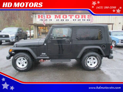 2005 Jeep Wrangler for sale at HD MOTORS in Kingsport TN
