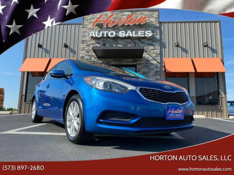 2014 Kia Forte for sale at HORTON AUTO SALES, LLC in Linn MO