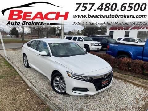 2020 Honda Accord for sale at Beach Auto Brokers in Norfolk VA