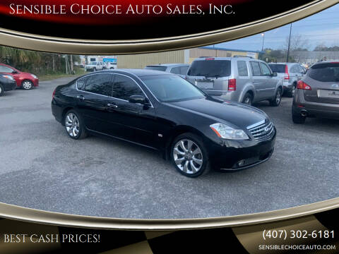2006 Infiniti M35 for sale at Sensible Choice Auto Sales, Inc. in Longwood FL
