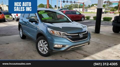 2016 Honda CR-V for sale at HCC AUTO SALES INC in Sarasota FL