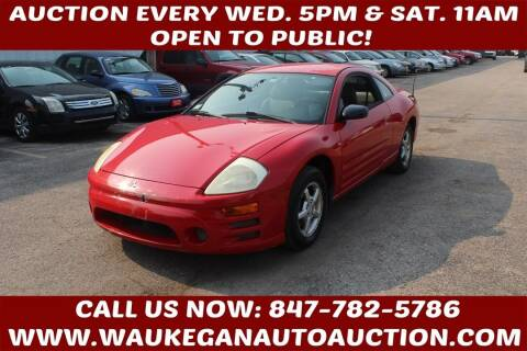 2003 Mitsubishi Eclipse for sale at Waukegan Auto Auction in Waukegan IL