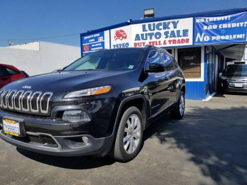 2014 Jeep Cherokee for sale at Lucky Auto Sale in Hayward CA