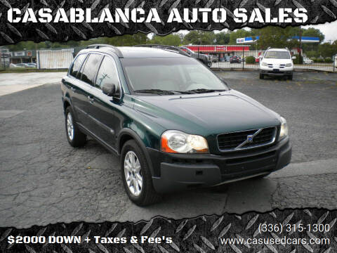 2004 Volvo XC90 for sale at CASABLANCA AUTO SALES in Greensboro NC