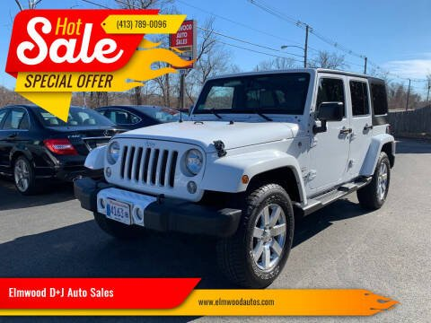 2016 Jeep Wrangler Unlimited for sale at Elmwood D+J Auto Sales in Agawam MA