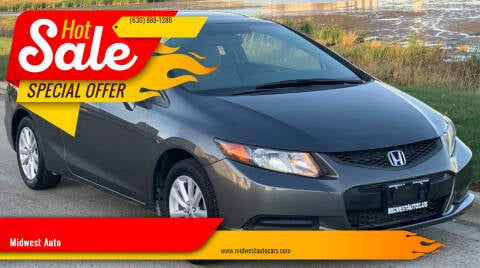2012 Honda Civic for sale at Midwest Auto in Naperville IL