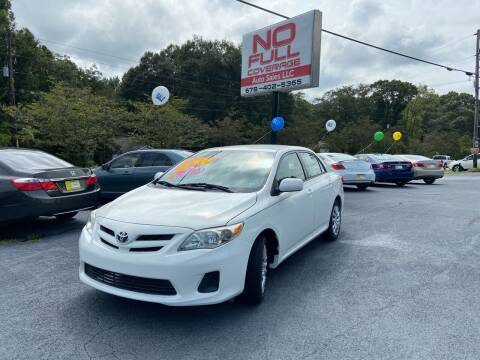 2012 Toyota Corolla for sale at No Full Coverage Auto Sales in Austell GA