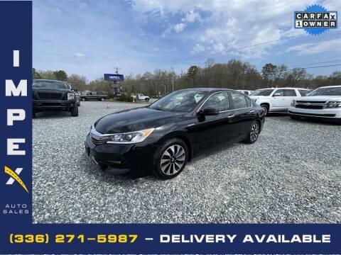 2017 Honda Accord Hybrid for sale at Impex Auto Sales in Greensboro NC