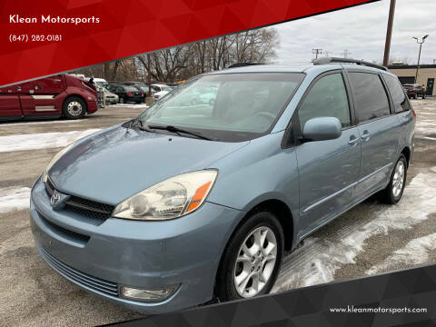 2005 Toyota Sienna for sale at Klean Motorsports in Skokie IL