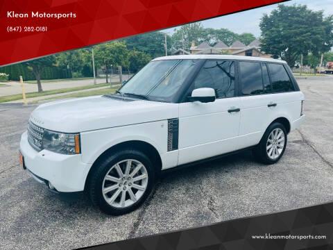 2011 Land Rover Range Rover for sale at Klean Motorsports in Skokie IL
