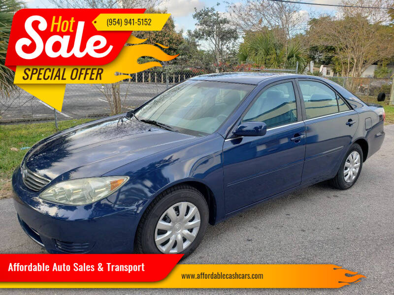 2005 Toyota Camry for sale at Affordable Auto Sales & Transport in Pompano Beach FL