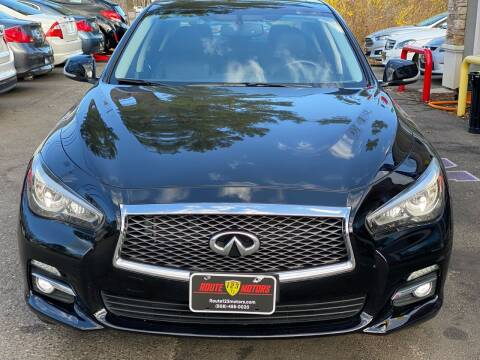 2015 Infiniti Q50 for sale at Route 123 Motors in Norton MA