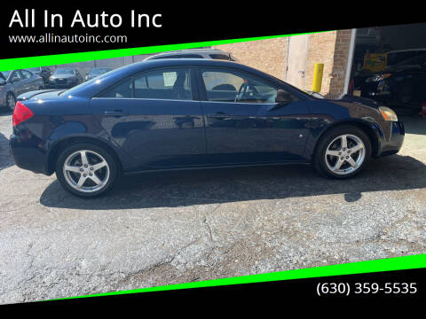 2008 Pontiac G6 for sale at All In Auto Inc in Palatine IL