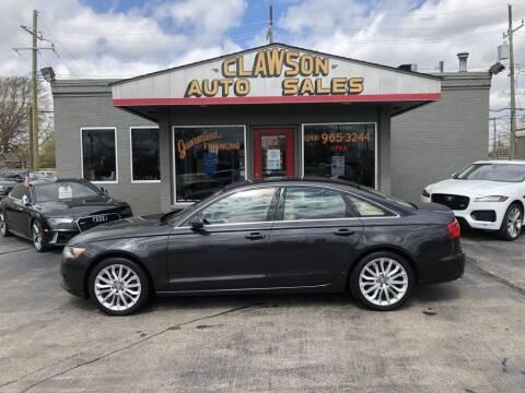 2014 Audi A6 for sale at Clawson Auto Sales in Clawson MI