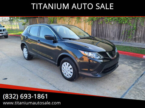 2019 Nissan Rogue Sport for sale at TITANIUM AUTO SALE in Houston TX