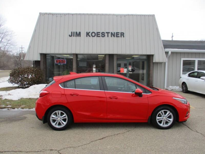 2017 Chevrolet Cruze for sale at JIM KOESTNER INC in Plainwell MI