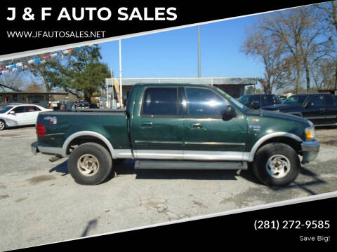 2001 Ford F-150 for sale at J & F AUTO SALES in Houston TX